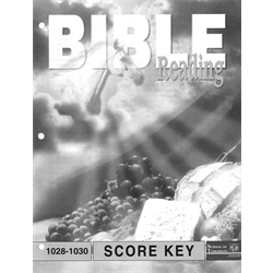 Bible Reading Key 1028-1030