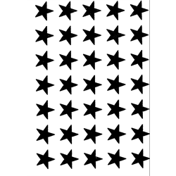 Silver Stars (Self-Sticking)
