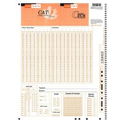 CAT 3 Level 14-19/20 M/S Answer Sheet