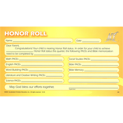 Honor Roll Projection Form (Package of 50)
