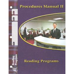 Procedures Man 2 Reading Programs Pace